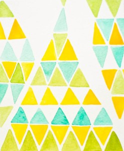 New Patterns - yellow green-101