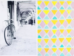 Analog photography + Watercolour Pattern