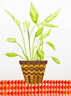 Watercolour plant-1