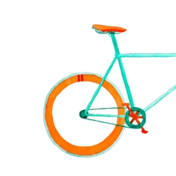 Watercolour Bicycle