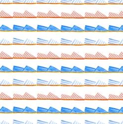 Watercolour Alpargatas Pattern
