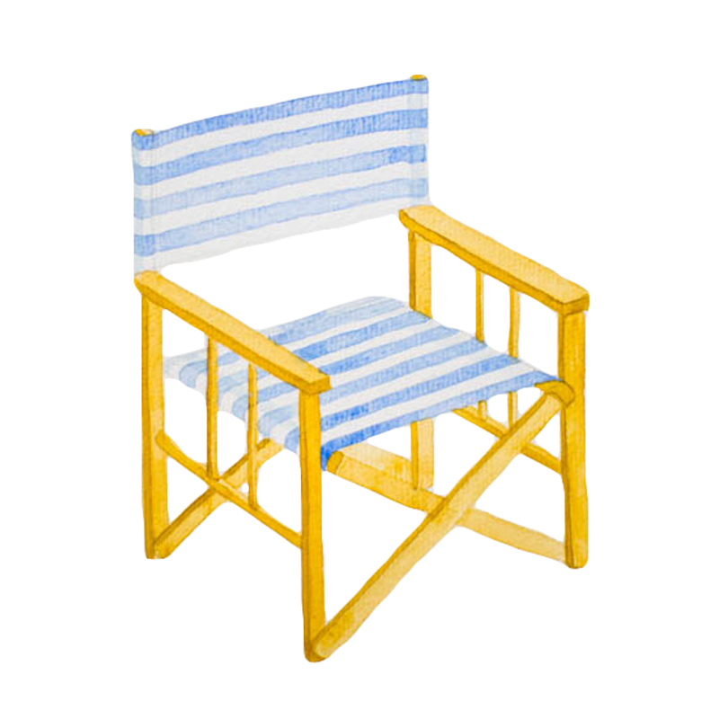 Beach Chair Watercolour