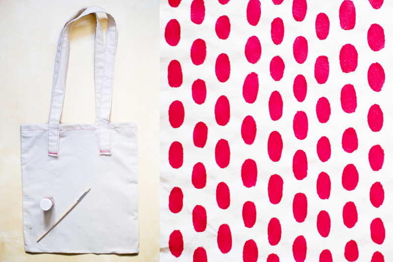 Red Spots Tote