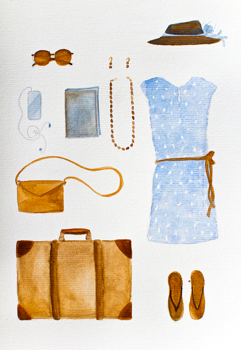 Vintage Travel Outfit by Serena Olivieri